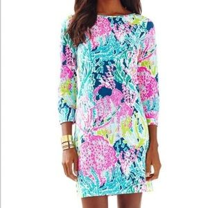 LILLY PULITZER 3/4 Sleeve; Coral Knitting Dress